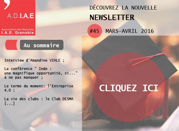 Newsletter ADIAE Mars-Avril 2016