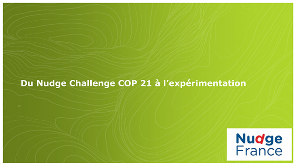 Les étudiants de Grenoble IAE au Test Nudge Challenge COP 21