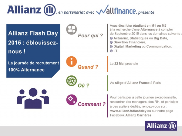Allianz FlashDay : la journée de recrutement 100% Alternance du groupe Allianz!